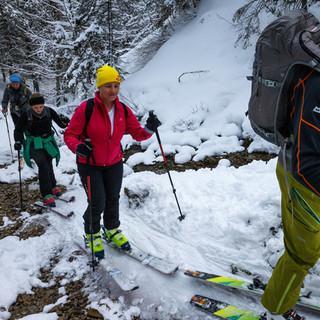 Die Gruppe beim Aufstieg&nbsp&#x3B;© DAV/Marco Kost