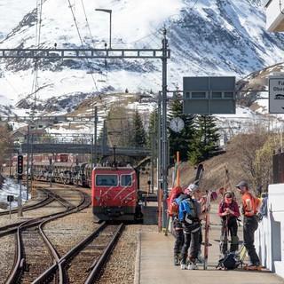 Bahnhof Realp: Die Urner Haute Route ist perfekt mit dem ÖV zu machen. Foto: Folkert Lenz