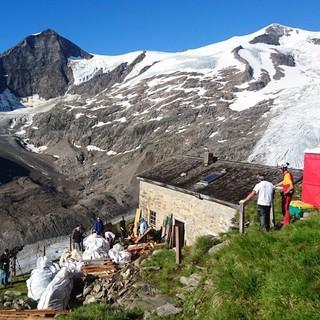 Alpine Baustelle auf 2.489 m, Foto: DAV/ Robert Kolbitsch