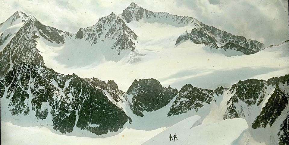 Panorama vom Schrankogl. Die Ruderhofspitze. Archiv des DAV, München