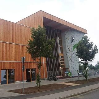 Das neue Gebäude von außen, Foto: DAV Kletterzentrum Neumarkt