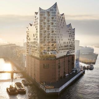 Das Wahrzeichen Hamburgs: die Elbphilharmonie. Foto: Cooper Copter GmbH