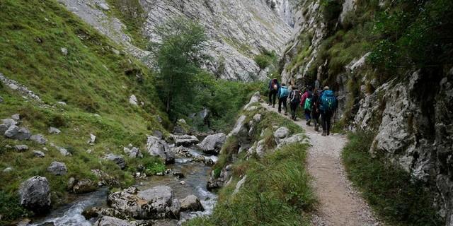 Reizvolle Wanderung – der alte Weg nach Bulnes durch den Canal del Texu. Foto: Antes & Antes