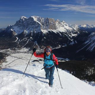 Am Mittwoch war der Grubigstein über Lermoos mit Ski gut möglich. Foto : M. Pröttel