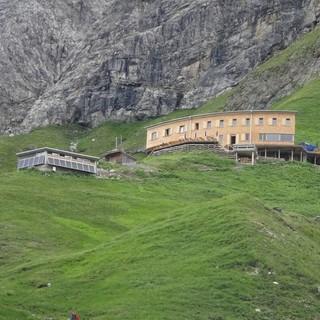 Waltenberger-Haus kurz vor dem Ziel Foto DAV