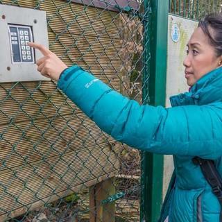 So schön ist die Realität des Kletterns in NRW: Zugangskontrolle per Computercode am Bochumer Bruch, Foto: Mathias Weck