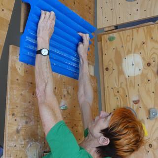Trainingsboard von Gina Lopez; Foto: DAV/Andreas Dick