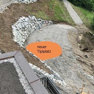 Markierung des neuen Tipiplatzes, 08.06.2020; Foto: Jubi/ Johanna Grassegger