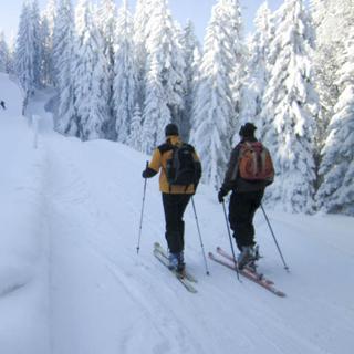 Aufstiegsroute: Skitourengehen auf Pisten