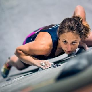 DAV-Boulderin Monika Retschy, Foto: DAV/Marco Kost