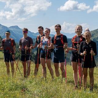 Das SkimoTeamGermany bestens gelaunt beim Trainingscamp in Obertauern - Foto: Nils Lang