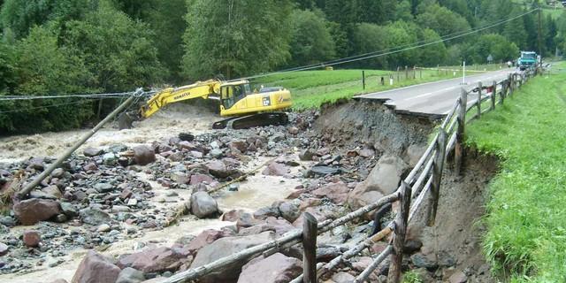 Folgen des Starkregens, Foto: Hans Wick