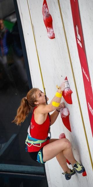 Franziska Ritter startet auch bei den Summer Series im Speed. Foto: DAV/Marco Kost