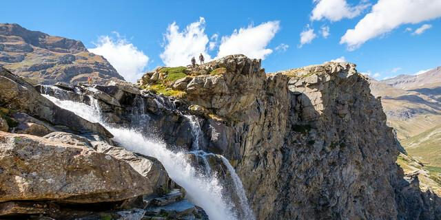 Aber natürlich ist schönes Wetter oft fotogener, vor allem an den spektakulären Kaskaden der Gorge de la Reculaz. Foto: Iris Kürschner