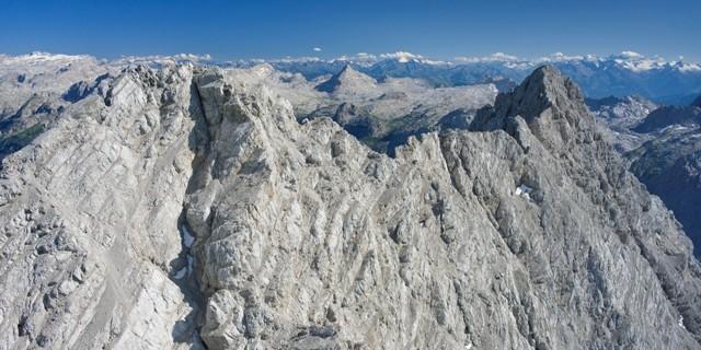 Mittelspitze und Südspitze. © Luftbild Jörg Bodenbender