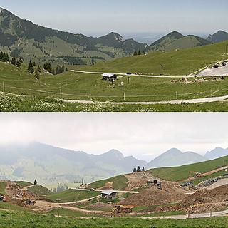 Bau des größten Speicherbeckens im bayerischen Alpenraum (Foto: GöF)