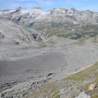 Moräne des Rifflkees - Die letzten, steileren Meter ins Kapruner Törl, über der Schuttleiche des Rifflkees
