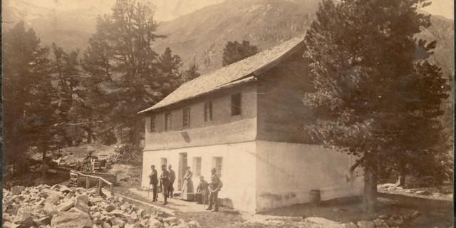 Gründerzeit des Alpenvereins: Das Gepatschhaus in den 1870er Jahren. Archiv des DAV, München