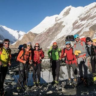 Der Expedkader der Männer auf der Abschlussexpedition in Kirgistan 2015. Foto: DAV