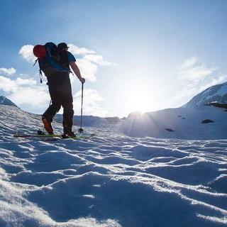 An der Weißkugel hat der Schnee schon firnige Frühjahrsstrukturen ausgebildet. Foto: Markus Stadler