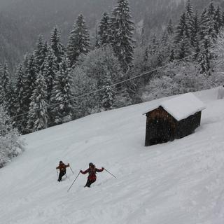 Am Wochenende muss man sich wie hier bei Berwang auf neue Schneefälle einstellen. Foto: M. Pröttel