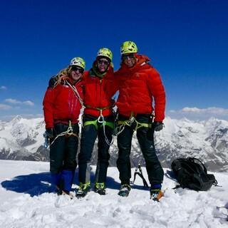 Gipfelerfolg bei der Abschlussexpedition 2018, Foto: DAV/Michi Wärthl