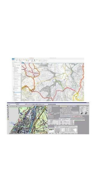 Der Vergleich der beiden Softwares (MicroStation unten, ArcGIS oben) zeigt die Entwicklung in der digitalen Kartographie. Foto: DAV