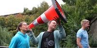Kathrin verschafft sich Gehör - Foto: JDAV/ Hanna Glaeser