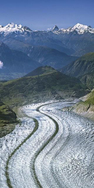 Der Aletschgletscher in der Schweiz, Foto: Jörg Bodenbender