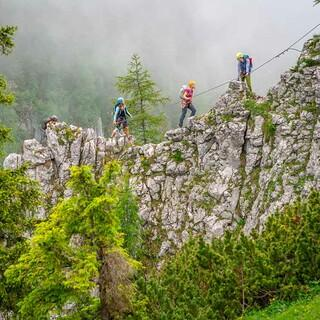 Abstand im Klettersteig, Foto: JDAV/Silvan Metz