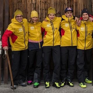 Das SKIMO Team in ihrer neuen Einkleidung für die Skibergsteigersaison 2018/219