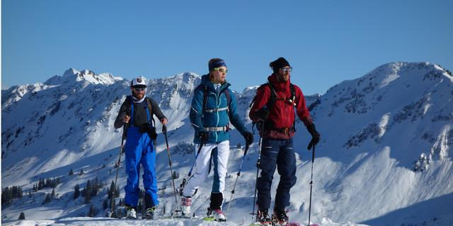 Skitourengeher Fotoshooting Kleinwalser
