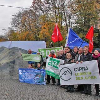 Demonstration-Alpenplan-Landtag-November-2017. Foto: Steffen Reich