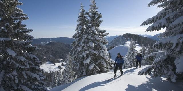 Skitour auf den Hirschberg. Foto: Alpenregion Tegernsee Schliersee