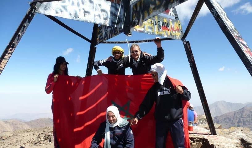 Auf dem Djebel Toubkal (4167 m) - Wo es nicht mehr höher geht: Der Djebel Toubkal ist der höchste Gipfel des Atlas.