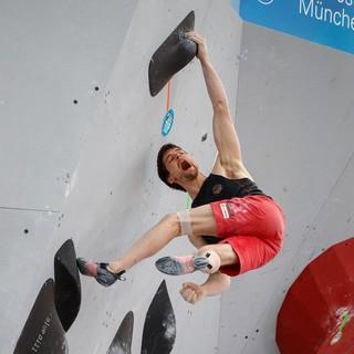 Jan Hojer beim Boulderweltcup München 2019. Foto: DAV/Marco Kost
