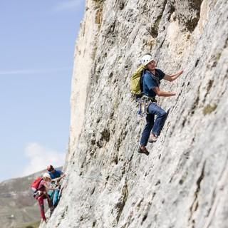 Orientierung und Kletterkönnen dürfen kein Problem sein- dann kann man sich auf die Führungsarbeit konzentrieren. Foto: Julian Bückers