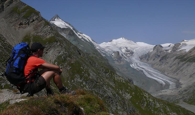 Pasterze - Bis zur Pasterze, dem größten Ostalpengletscher, und darüber hinweg führt die letzte Etappe.