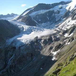 Anmarsch zum Taschachferner, Oetztaler Alpen, Tirol, Oesterreich