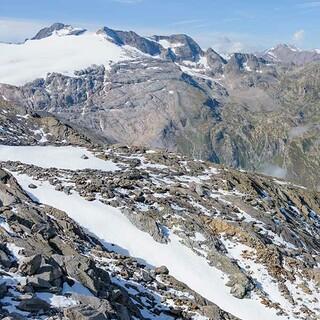 Der Basòdino ist einer der höchsten Tessiner Berge; auch sein Gletscher schwindet. Foto: Folkert Lenz