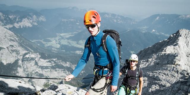 Trotz Drahtseil - kein durchgehender Klettersteig!