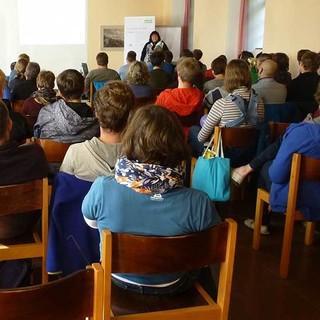 """""""Motivation im Ehrenamt"""" ein Impulsvortrag von Dr. Barbara Moschner, Foto: JDAV/ Lena Glaeser"""