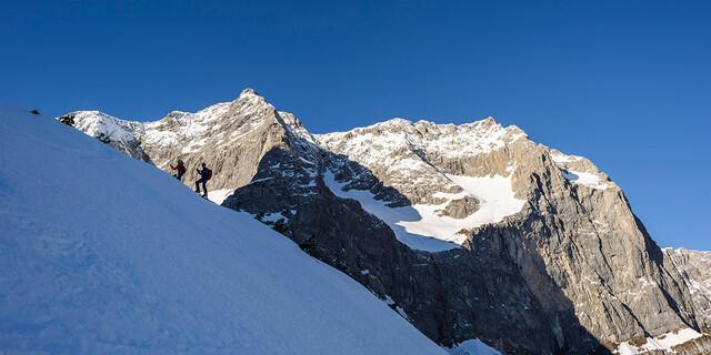 Skitour von der Eng zur Hochglückscharte (Karwendelgebirge), Foto: Wolfgang Ehn