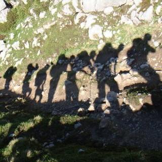 Licht- und Schattenspiele beim Aufstieg. Foto: Sarah Kästner