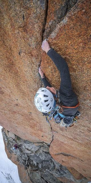 Perfekter Granit an der Aiguille du Midi. Foto: DAV / Silvan Metz