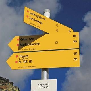 Das Virger Törl (2615 Meter), ein markanter  Pass im Osttirol, weiter geht es Richtung Lasörlinghütte. foto: Silvia Schmid.