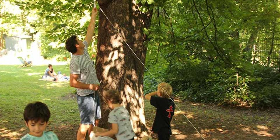 Godelbergstation im Baum, Foto: JDAV/Britta Zwiehoff