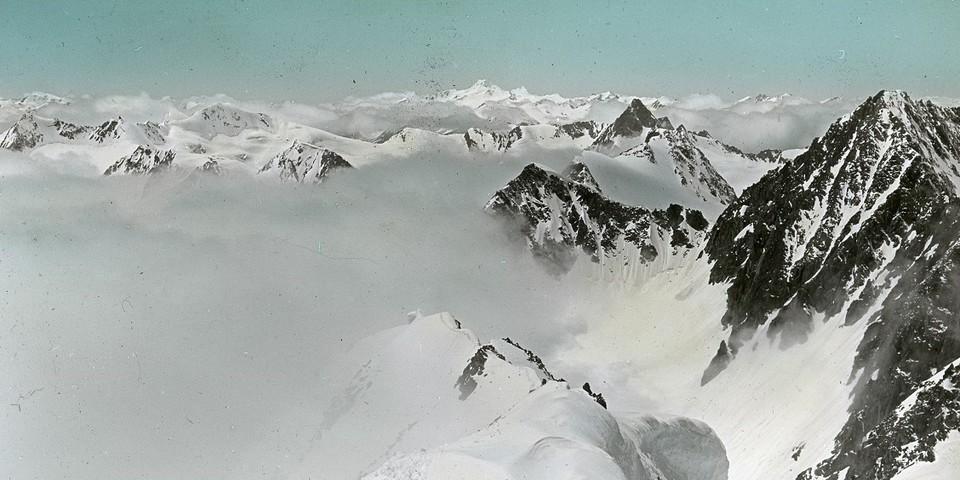Endlose Weiten. Die Wildspitze vom Suedgrat der Ruderhofspitze. Archiv des DAV, München