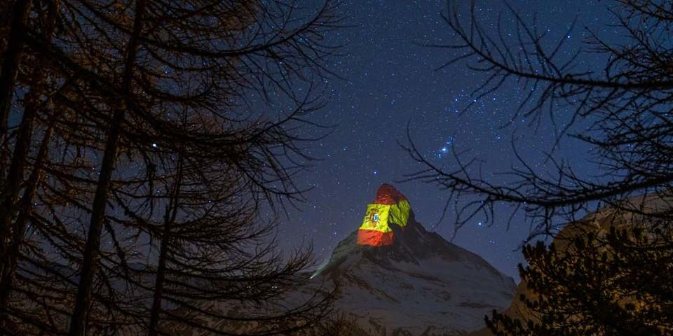 Spanien, Beleuchtung am 10. April, Light Art: Gerry Hofstetter/Foto: Gabriel Perren
