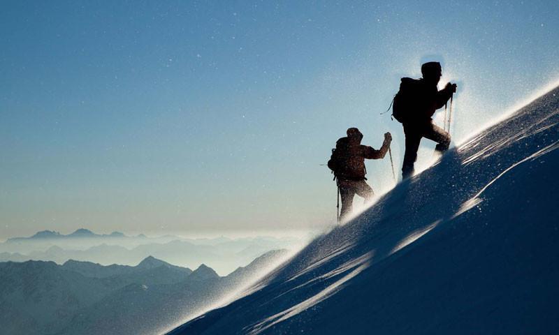 Aufstieg zum Similaun - Im Aufstieg zum Similaun, Ötztaler Alpen   Foto: Bernd Ritschel